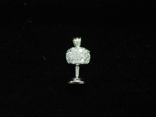 PND-C2 Clear Stone Marriage Cup Pendant -0