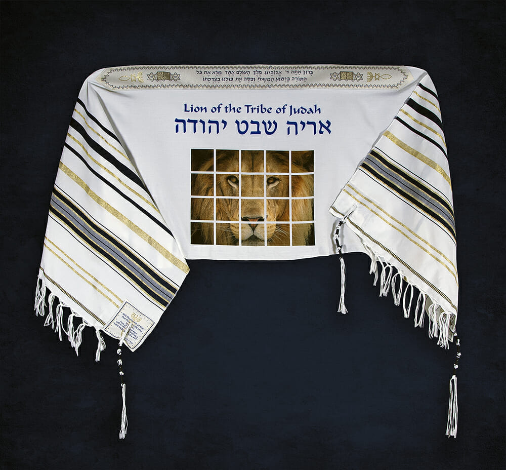 TALLIT-2 Tallit Lion of Judah Prayer Shawl (Large)-0